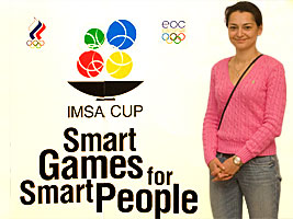 Chess Grandmaster Alexandra Kosteniuk was at the IMSA Cup in Perm