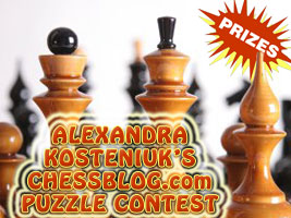 World Chess Champion and Chess Queen Alexandra Kosteniuk runs a chess puzzle contest