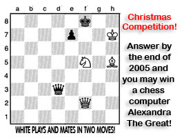 Solve this chess puzzle and win a Chess Computer