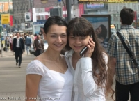 A nice day in Moscow for Alexandra and Oxana